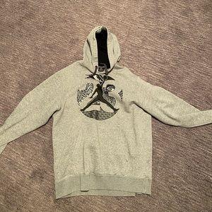 Gray Jordan hoodie